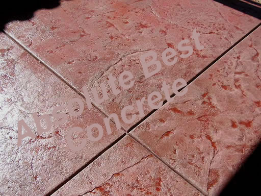 Red Stamp Concrete Patio