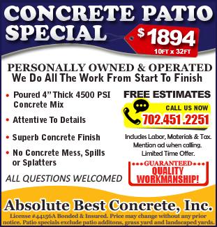 Concrete Patio Special