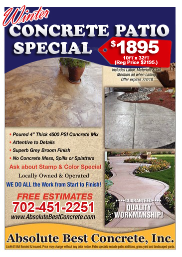 Concrete Patio Special